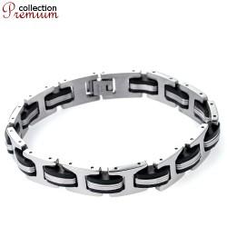 Edelstahl/Kautschuk Armband