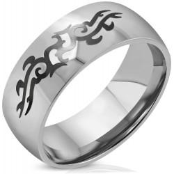 Edelstahl Ring Tribal