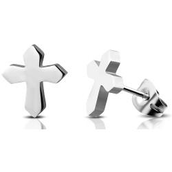 Herren Ohrstecker Kreuz