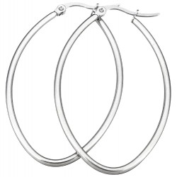 Edelstahl Creolen oval