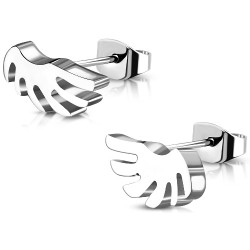 Edelstahl Ohrstecker Flügel