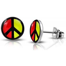 Edelstahl Ohrstecker Peace