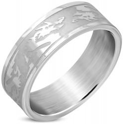 Edelstahl Ring Drache