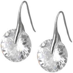 Edelstahl Ohrringe mit Kristall