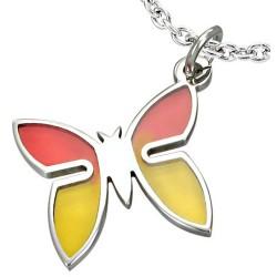 Edelstahl Kettenanhänger Schmetterling