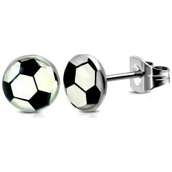 Edelstahl Ohrstecker Fußball